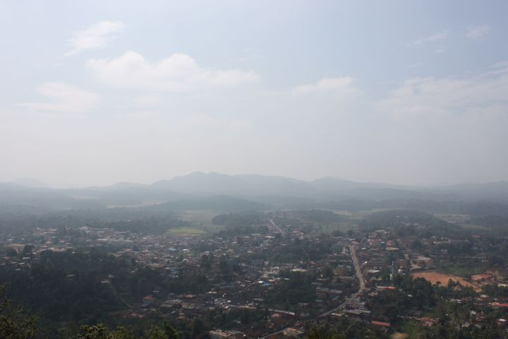 Virajpet - A view of the valley and hills beyond